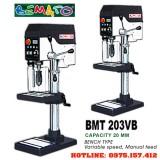Máy khoan bàn 20mm 3HP hiệu Bemato BMT-203VB, máy khoan đứng 20mm Taiwan, tốc độ điều chỉnh vô cấp