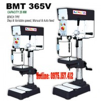Máy khoan bàn 25mm hiệu Bemato BMT-365V, khoan 25mm taro M4~M12, tốc độ điều chỉnh vô cấp.