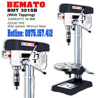 Máy khoan bàn 30mm taro 16mm Bemato BMT-301SB, khoan bàn Taiwan 1HP 2HP