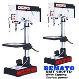Máy khoan bàn 40mm 3HP Bemato BMT-600FTD, khoan bàn có taro M4-M20, tốc độ vô cấp, bàn vuông, có làm mát