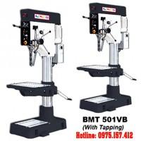 Máy khoan bàn 50mm Bemato BMT-501VB, khoan bàn 5HP có taro tốc độ vô cấp, bàn vuông.