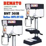 Máy khoan bàn và taro Bemato BMT-360B, khoan 20mm taro M4~M12, tốc độ vô cấp.