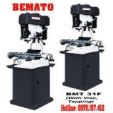 Máy khoan phay kèm taro Bemato BMT-31F, khoan phay đứng 32mm 1.5HP giá rẻ