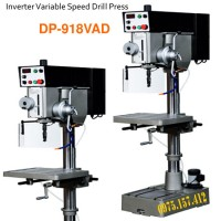 Máy khoan bàn 32mm tốc độ vô cấp DP-918VAD, máy khoan bàn có taro, tự động ăn phôi, tốc độ inverter.