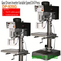 Máy khoan bàn hộp số tốc độ vô cấp DP-920G, khoan bàn vô cấp inverter 32mm, taro 19mm, công suất 1500W