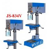 Máy khoan bàn 32mm có taro 20mm JS-834V, khoan bàn Đài Loan tốc độ vô cấp