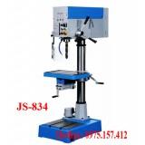 Máy khoan bàn kèm taro JS-834, máy khoan bàn 32mm có taro M5-M20, khoan bàn 1.5HP giá rẻ.